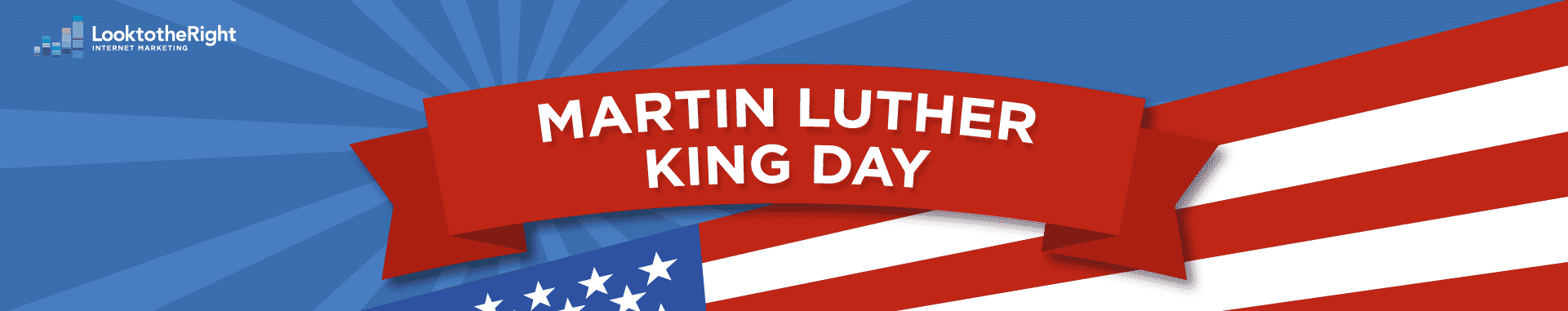 martin luther king jr day over american flag